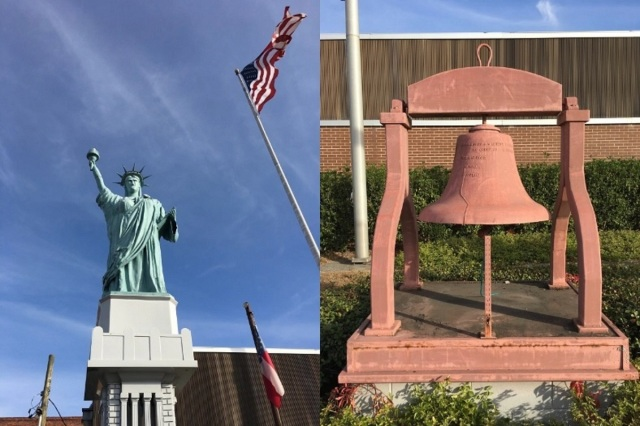 Home-Made Statue of Liberty and Liberty Bell
