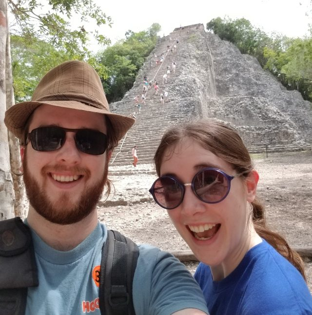 Climbing the Mayan Ruins at Coba