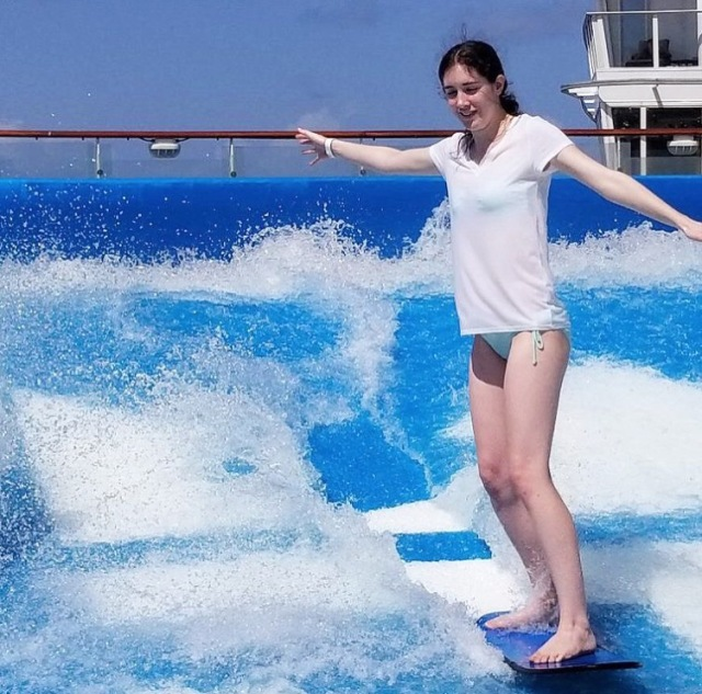 FlowRider Surfing on Royal Caribbean Oasis of the Seas