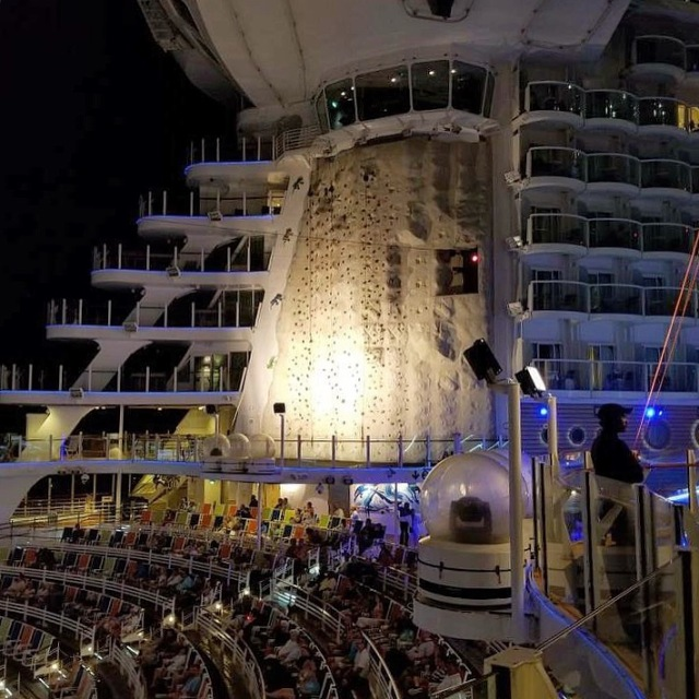 Rock Climbing on Royal Caribbean Oasis of the Seas