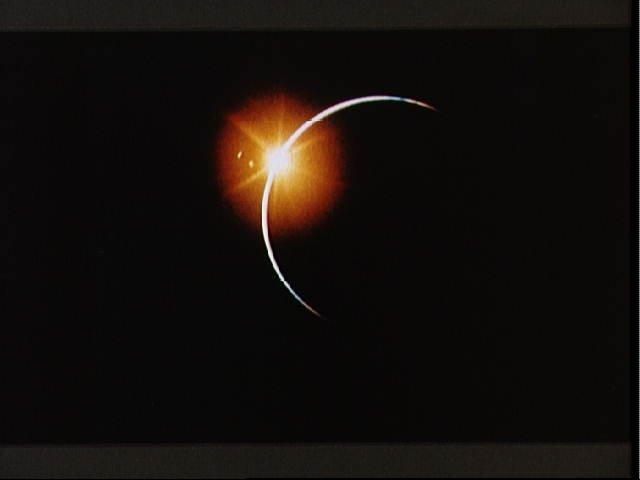 Apollo 12 view of Solar Eclipse