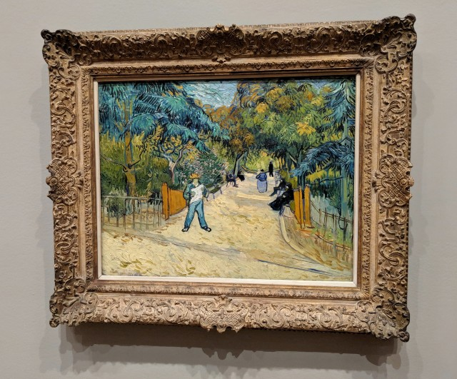 Entrance to the Public Gardens at Arles, van Gogh